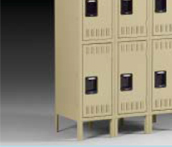 Tennsco Three Tier Steel Lockers